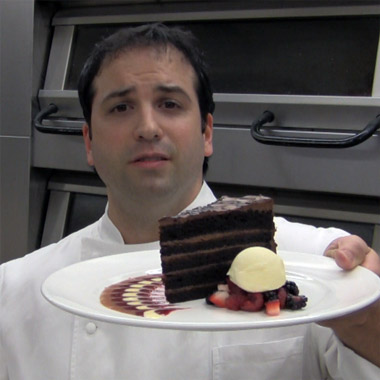 Chocolate Cake Plating
